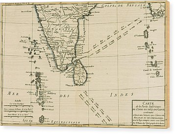 Southern India And Ceylon Wood Print by Guillaume Raynal