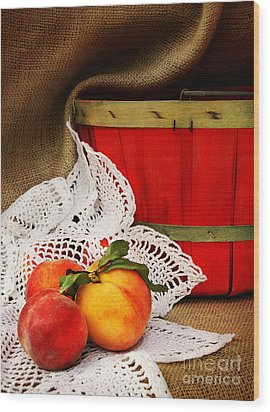 Southern Peaches Wood Print