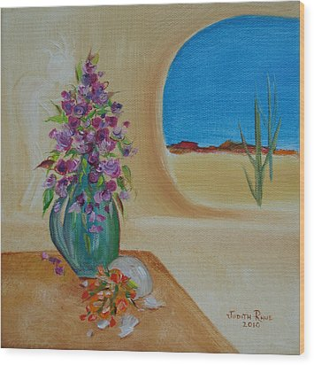 Wood Print featuring the painting Southwestern 3 by Judith Rhue