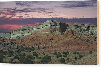 Wood Print featuring the photograph Southwestern Sunset by Renee Hardison
