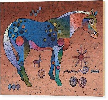 Southwestern Symbols Wood Print by Bob Coonts