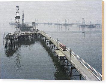Soviet Caspian Sea Oil Fields, 1978 Wood Print by Ria Novosti