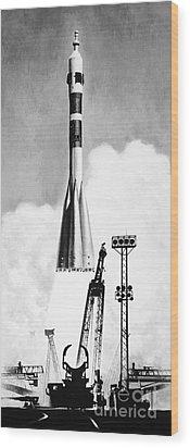 Soviet Soyuz Rocket, 1975 Wood Print by Granger