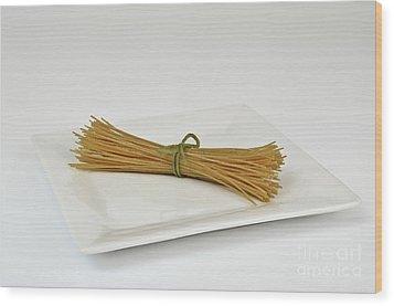 Soybean Spaghetti Wood Print by Photo Researchers