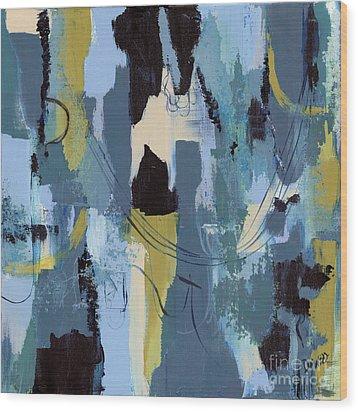 Spa Abstract 1 Wood Print by Debbie DeWitt