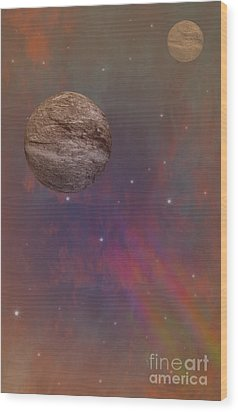 Space Wood Print by Brian Roscorla