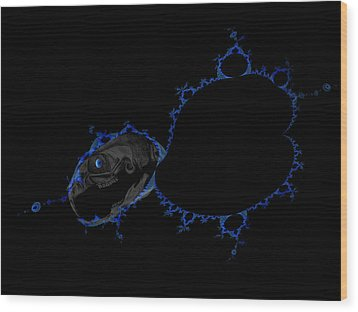 Space Mouse Wood Print by Nafets Nuarb