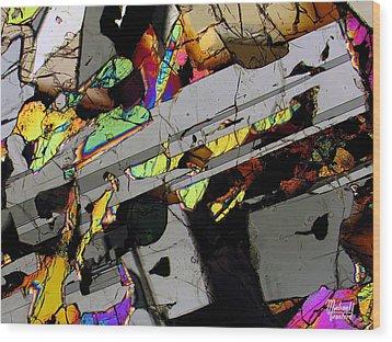 Space Revolver Wood Print