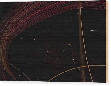 Space Traveler Wood Print by Dean Bennett