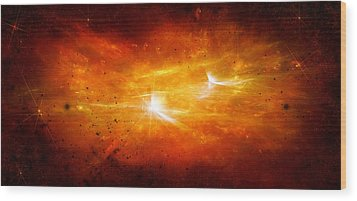 Space008 Wood Print by Svetlana Sewell