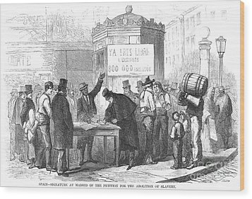 Spain: Abolitionists, 1869 Wood Print by Granger