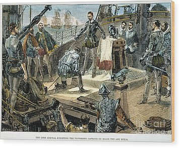 Spanish Armada Wood Print by Granger