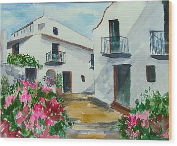 Spanish Balconies Wood Print