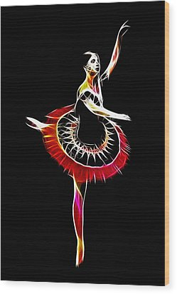 Spanish Ballerina Wood Print by Steve K