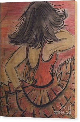 Wood Print featuring the painting Spanish Dancer by Lori  Lovetere