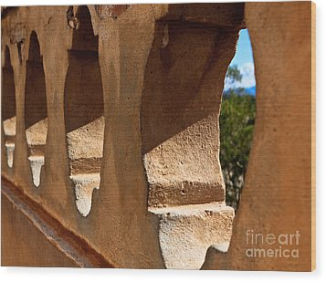 Spanish Wall Wood Print by Lawrence Burry