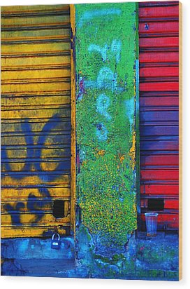 Spare A Spill Wood Print by Skip Hunt