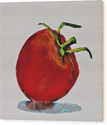 Speckled Tomato Wood Print by Jani Freimann