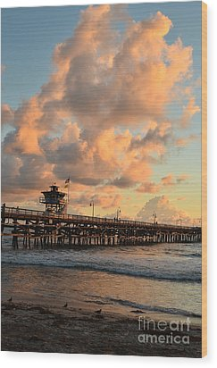 Spectacular San Clemente Clouds Wood Print by Timothy OLeary