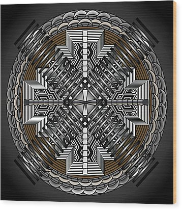 Wood Print featuring the digital art Spectral Formations by Mario Carini