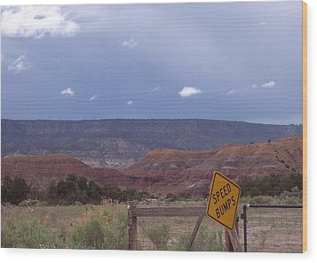 Wood Print featuring the photograph Speed Bumps Nb by Susan Alvaro