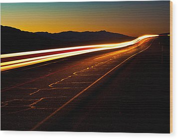 Speed Of Light Wood Print by James Marvin Phelps