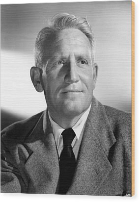 Spencer Tracy, 1940s Wood Print by Everett