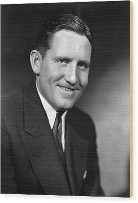 Spencer Tracy, 92734 Wood Print by Everett