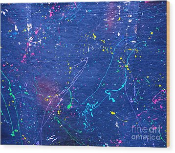 Sperm In Space Wood Print by Chuck Taylor