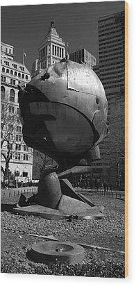 Sphere Manhatta Wood Print by Christian Heeb