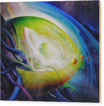 Sphere Qf70 Wood Print by Drazen Pavlovic