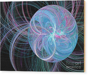 Wood Print featuring the digital art Spherical Symphony by Kim Sy Ok