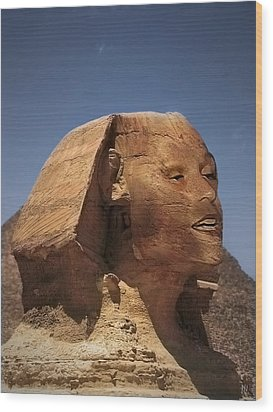 Sphinx Petra Wood Print by Nafets Nuarb