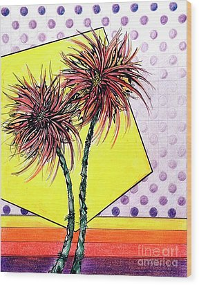 Spider Lilies Wood Print