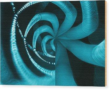 Spiderweb Work Wood Print by Odon Czintos