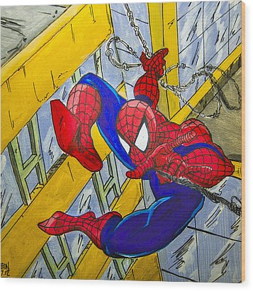 Spidey  Wood Print by Chris  Leon