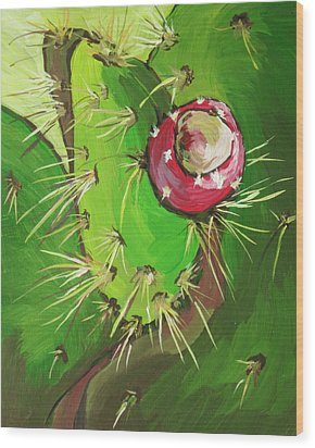 Spines Wood Print by Sandy Tracey