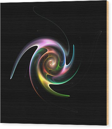 Spinning Galaxy Wood Print by Steve K