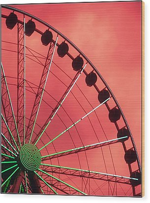 Spinning Wheel  Wood Print by Karen Wiles
