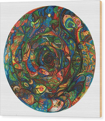 Spiraea Wood Print by Jonathan DiNo DiNapoli