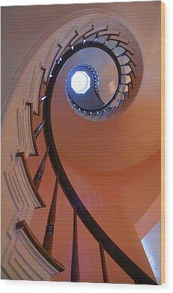 Spiral Stairway Wood Print by Steven Ainsworth