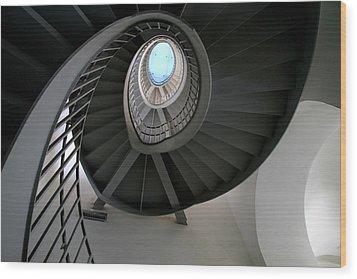 Spiral Steps Wood Print by Arie Arik Chen