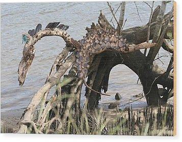 Spirit Horse Wood Print by Karen Elzinga