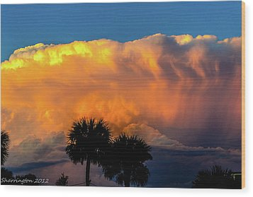 Spirit In The Clouds Wood Print by Shannon Harrington