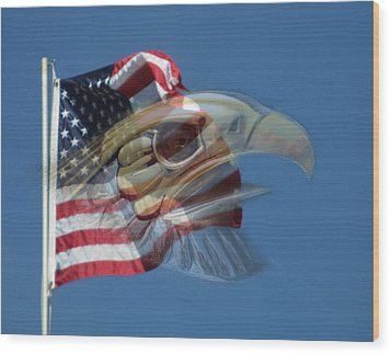 Spirit Of The Screaming Eagles Wood Print by Kevin Caudill