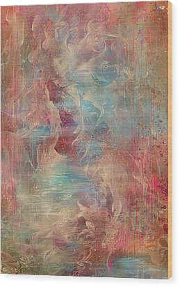 Spirit Of The Waters Wood Print by Rachel Christine Nowicki