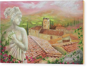 Wood Print featuring the painting Spirit Of Tuscany by Michael Rock