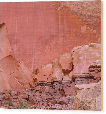 Wood Print featuring the photograph Spirit Wall by Ann Johndro-Collins