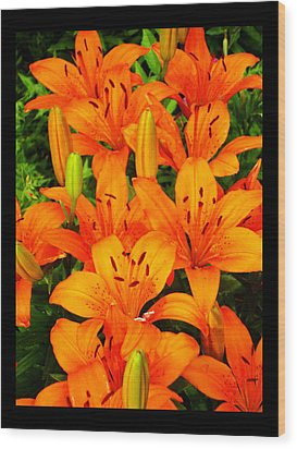 Wood Print featuring the photograph Spiritual Bouquets At St. Francis Cathedral by Susanne Still