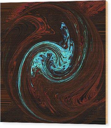 Spiritual Wakes Wood Print by James Mancini Heath